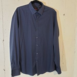 Van Heusen flex slim fit L checked blue shirt